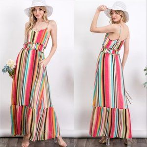 CAMI Bold Striped Maxi Dress